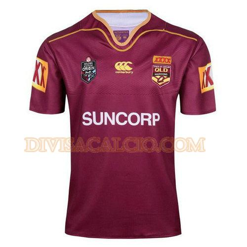 maglia rugby qld maroons 2017-2018 - rosso uomo